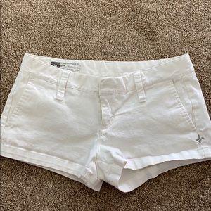 Hurley denim shorts white